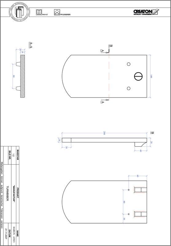 Produkt CAD-Datei MANUFAKTUR Segmentschnitt TURMBIBER