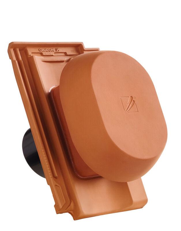 CAN SIGNUM keramischer Wrasenlüfter DN 150/160 mm inkl. Unterdachanschlussadapter