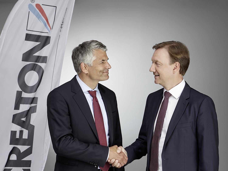 Sebastian Dresse (links) übernimmt die Unternehmensleitung bei Creaton von Stephan Führling.