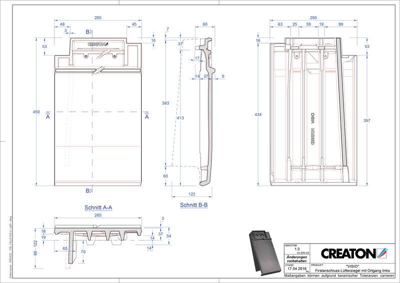 Produkt CAD-Datei VISIO Firstanschlusslüfter Ortgang links FALOGL