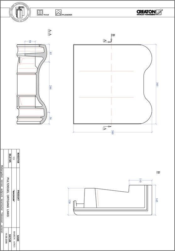 Produkt CAD-Datei MAGNUM Pultziegel Ortgang links PULTOGL