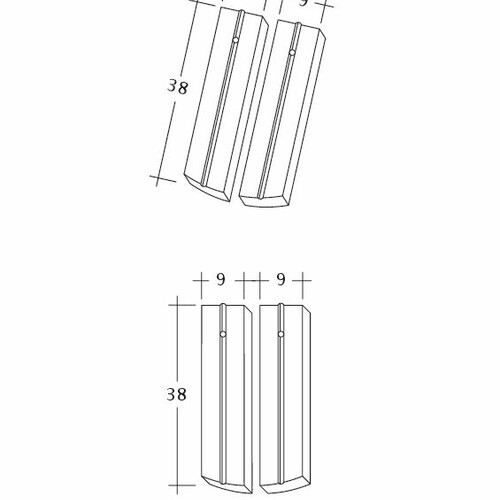 Produkt technische Zeichnung PROFIL Kera-Saechs-18cm-1-2
