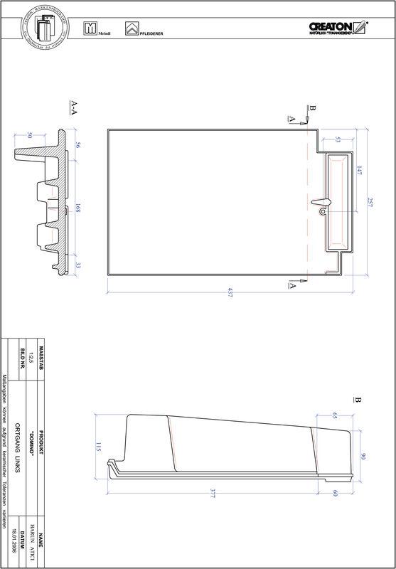 Produkt CAD-Datei DOMINO Ortgang links OGL