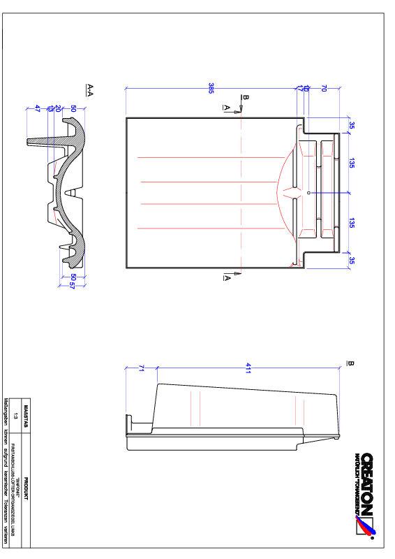 Produkt CAD-Datei SINFONIE Firstanschlusslüfter Ortgang links FALOGL