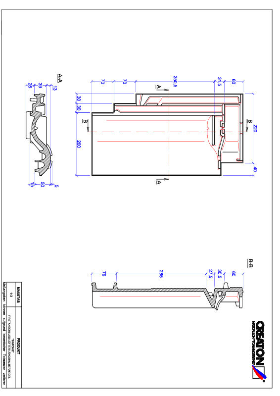 Produkt CAD-Datei SINFONIE Firstanschlusslüfter Längshalber FALLH
