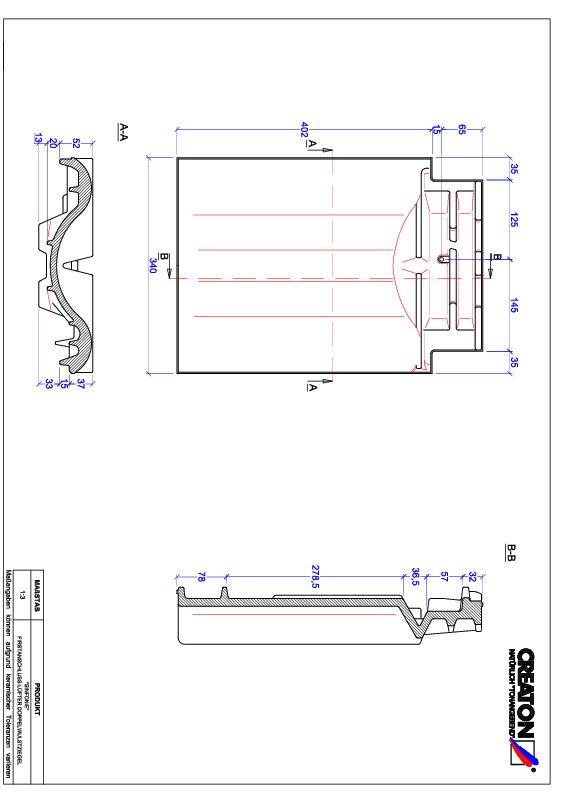 Produkt CAD-Datei SINFONIE Firstanschlusslüfter Doppelwulstziegel FALDWZ