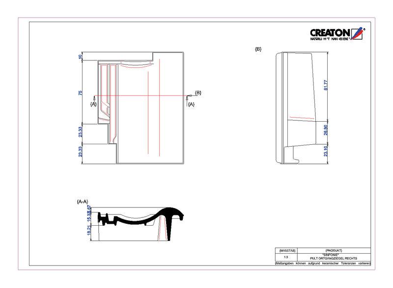 Produkt CAD-Datei SINFONIE Pultziegel Ortgang rechts PULTOGR