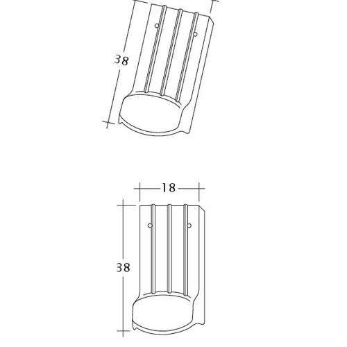 Produkt technische Zeichnung PROFIL Kera-Saechs-18cm-LUEFTZ