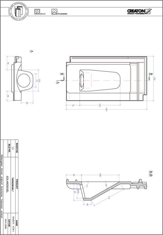 Produkt CAD-Datei HERZZIEGEL Solar SOLAR