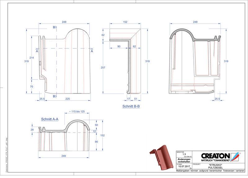 Produkt CAD-Datei ETRUSKO Pultziegel PULT