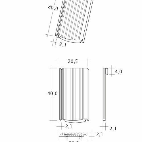 Produkt technische Zeichnung PROFIL Strangfalz-gewellt-1-1