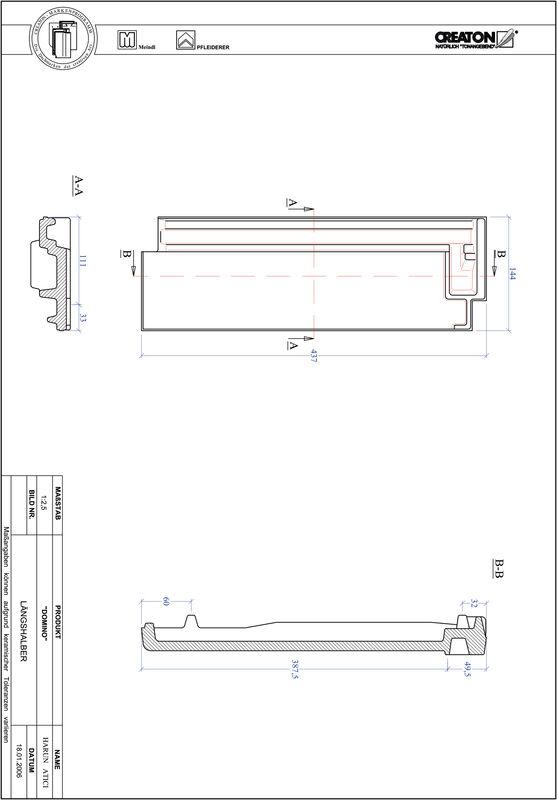 Produkt CAD-Datei DOMINO Längshalber LH
