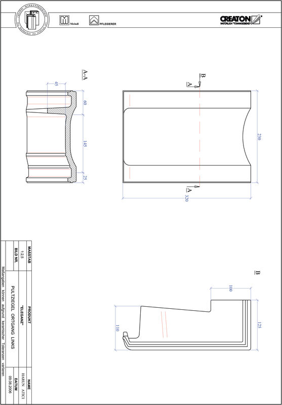 Produkt CAD-Datei ELEGANZ Pultziegel Ortgang links PULTOGL