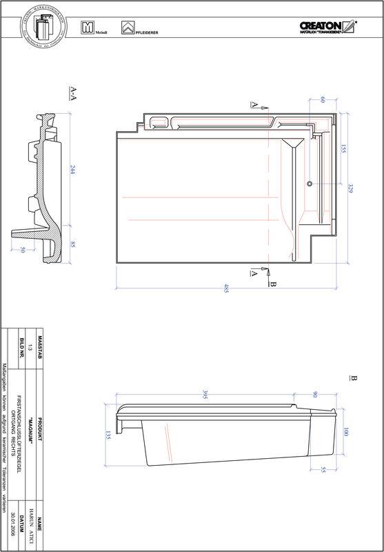 Produkt CAD-Datei MAGNUM Firstanschlusslüfter Ortgang rechts FALOGR
