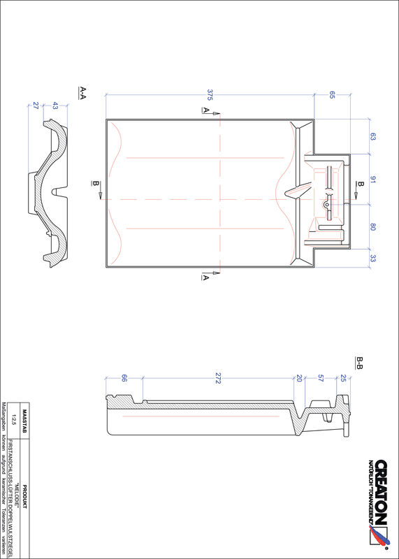 Produkt CAD-Datei MELODIE Firstanschlusslüfter Doppelwulstziegel FALDWZ