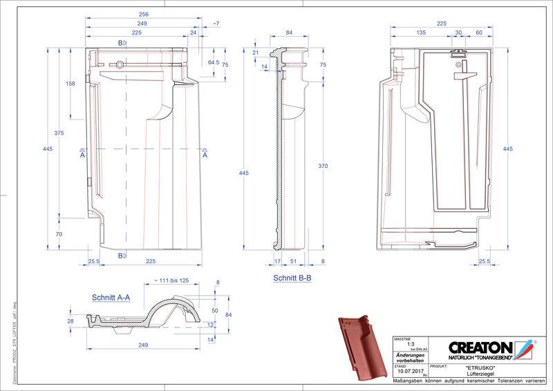 Produkt CAD-Datei ETRUSKO Lüfterziegel LUEFTZ