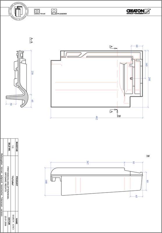 Produkt CAD-Datei FUTURA Firstanschlusslüfter Ortgang rechts FALOGR