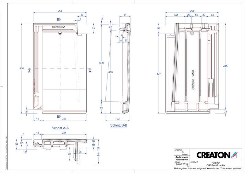 Produkt CAD-Datei VISIO Ortgang rechts OGR