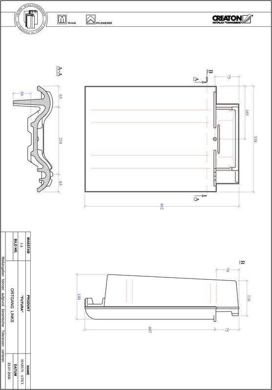 Produkt CAD-Datei FUTURA Ortgang links OGL