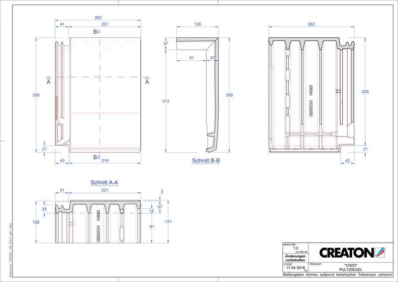 Produkt CAD-Datei VISIO Pultziegel PULT