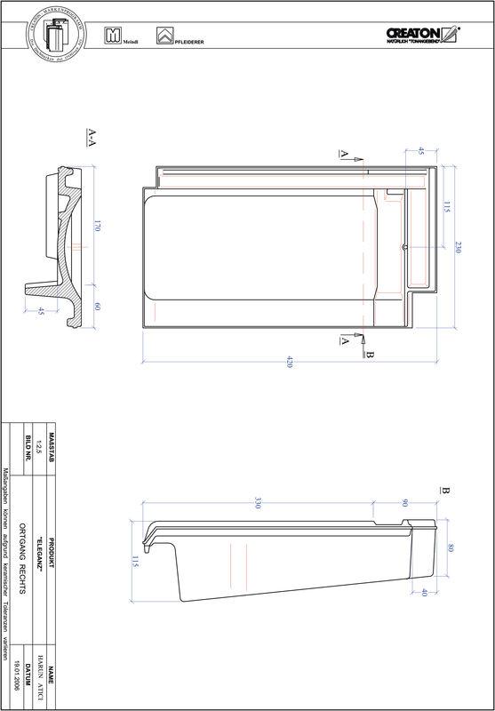 Produkt CAD-Datei ELEGANZ Ortgang rechts OGR