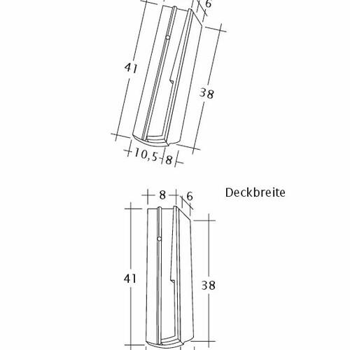 Produkt technische Zeichnung PROFIL Kera-Saechs-18cm-SchiebeOG