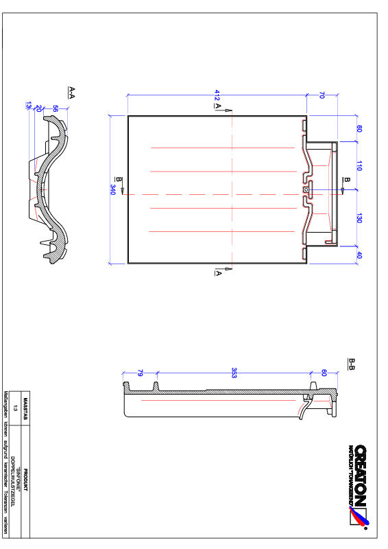 Produkt CAD-Datei SINFONIE Doppelwulstziegel DWZ