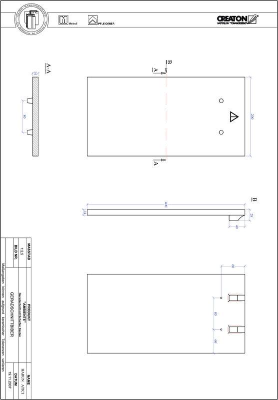 Produkt CAD-Datei AMBIENTE Geradschnitt GER-SCHARFE-KANTE