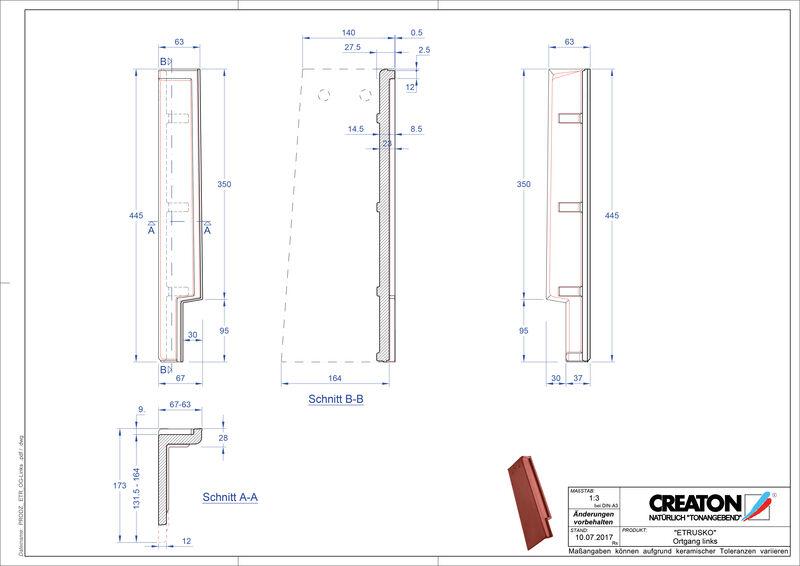 Produkt CAD-Datei ETRUSKO Ortgang links OGL