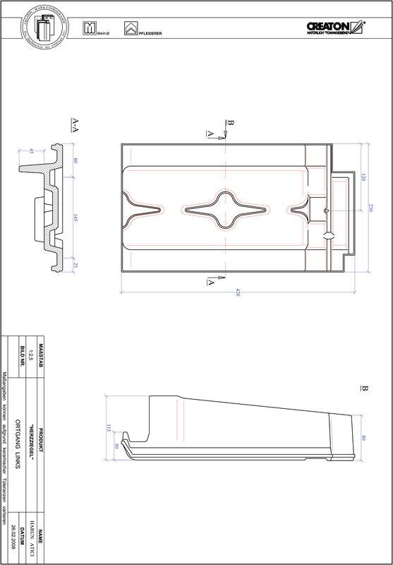 Produkt CAD-Datei HERZZIEGEL Ortgang links OGL