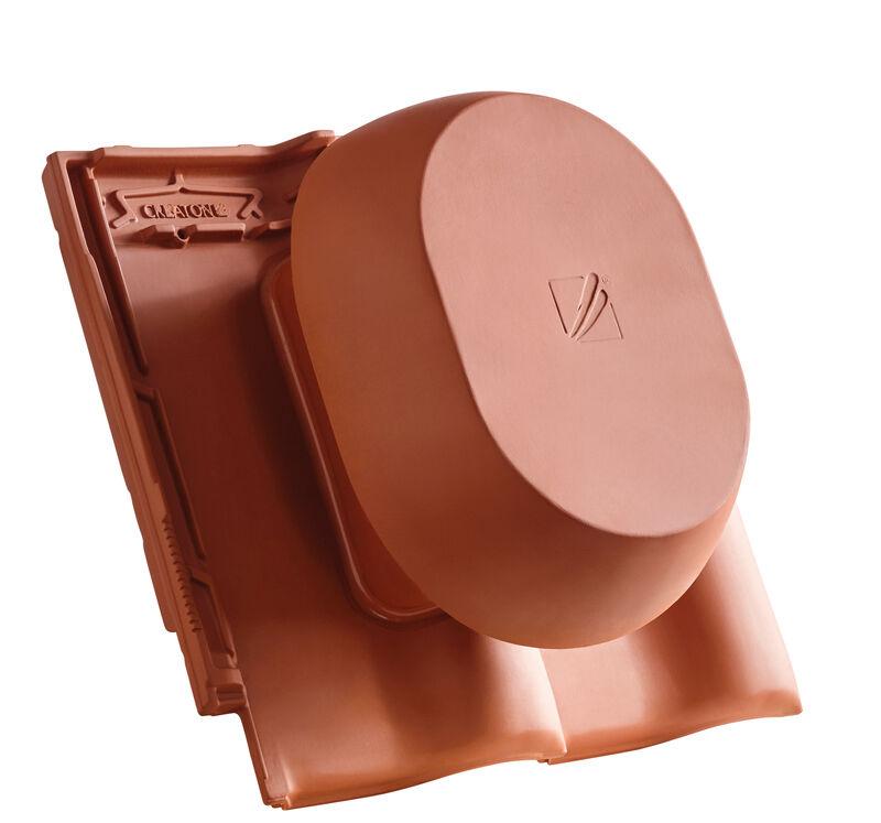MZ3 NEU SIGNUM keramischer Wrasenlüfter DN 200 mm inkl. Unterdachanschlussadapter
