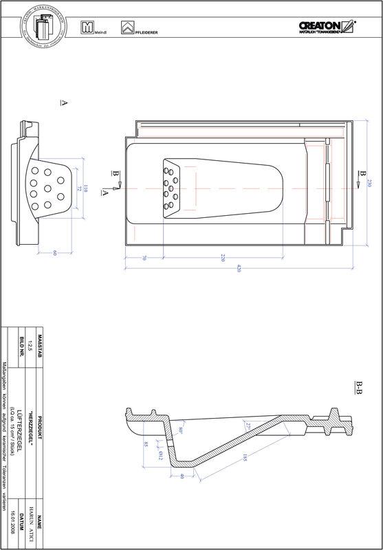 Produkt CAD-Datei HERZZIEGEL Lüfterziegel LUEFTZ