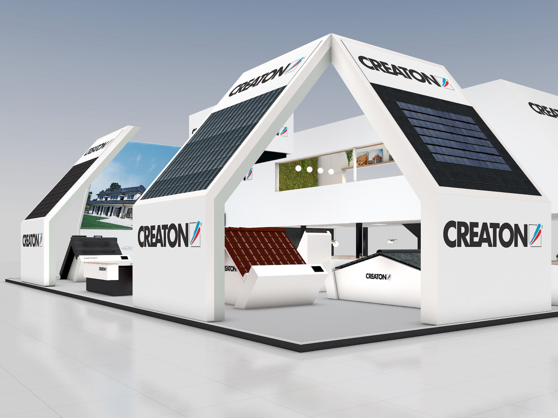 CREATON Messestand Dach+Holz 2020