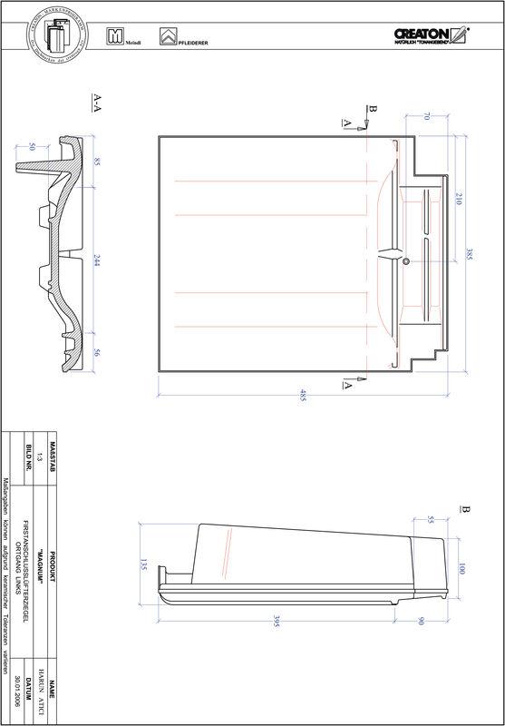 Produkt CAD-Datei MAGNUM Firstanschlusslüfter Ortgang links FALOGL