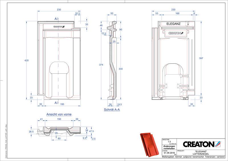 Produkt CAD-Datei ELEGANZ Lüfterziegel LUEFTZ