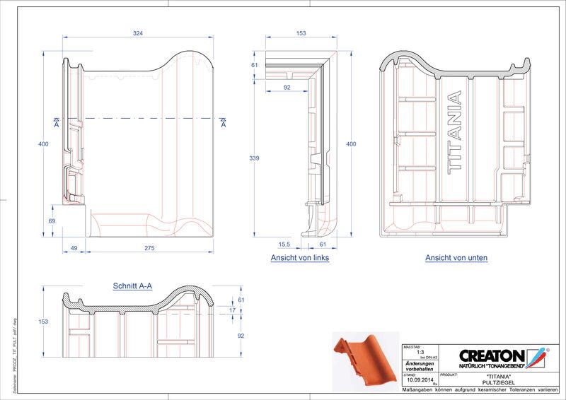 Produkt CAD-Datei TITANIA Pultziegel PULT