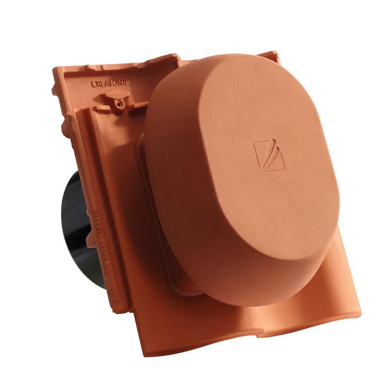 MEL SIGNUM keramischer Wrasenlüfter DN 200 mm inkl. Unterdachanschlussadapter