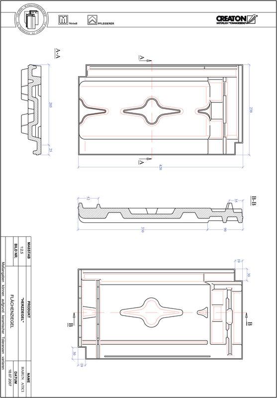 Produkt CAD-Datei HERZZIEGEL Fläche FLA