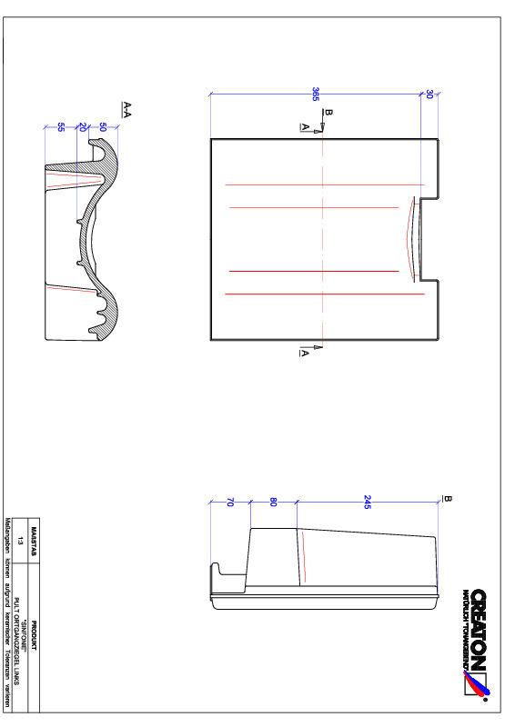 Produkt CAD-Datei SINFONIE Pultziegel Ortgang links PULTOGL