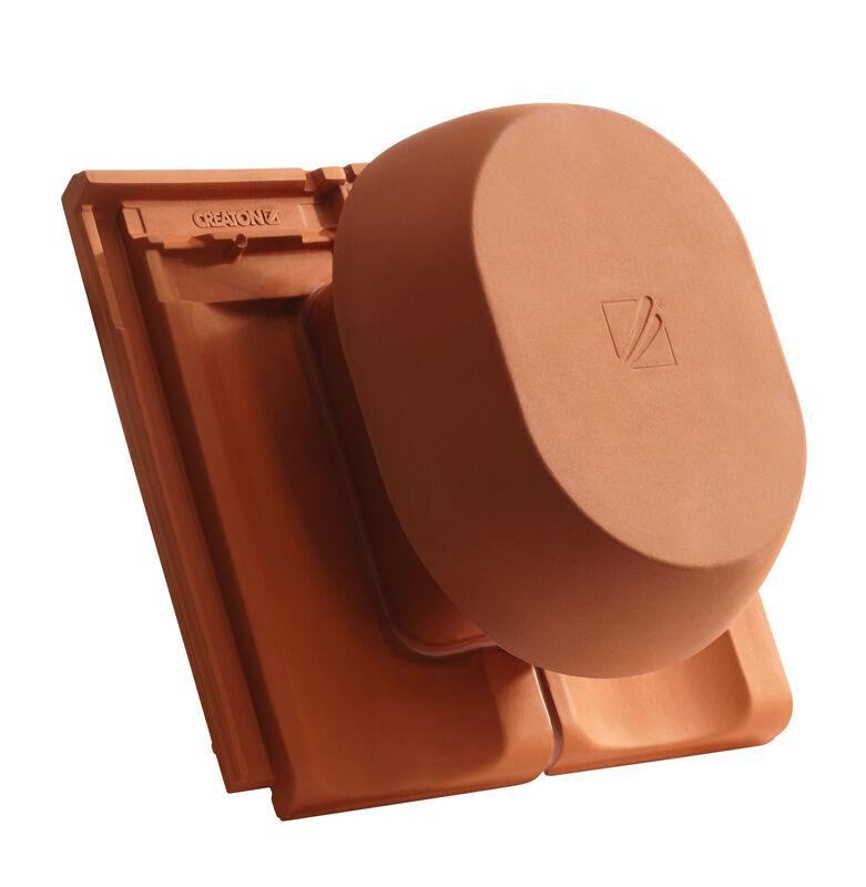 ELE SIGNUM keramischer Wrasenlüfter DN 200 mm inkl. Unterdachanschlussadapter