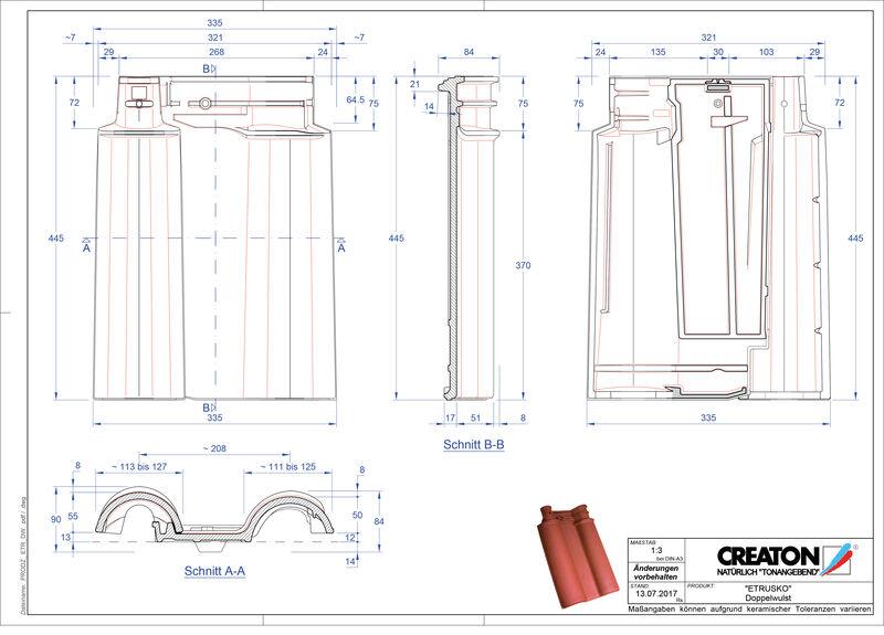 Produkt CAD-Datei ETRUSKO Doppelwulstziegel DWZ
