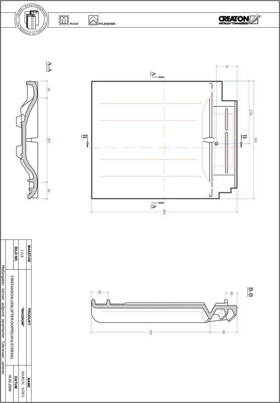 Produkt CAD-Datei MAGNUM Firstanschlusslüfter Doppelwulstziegel FALDWZ