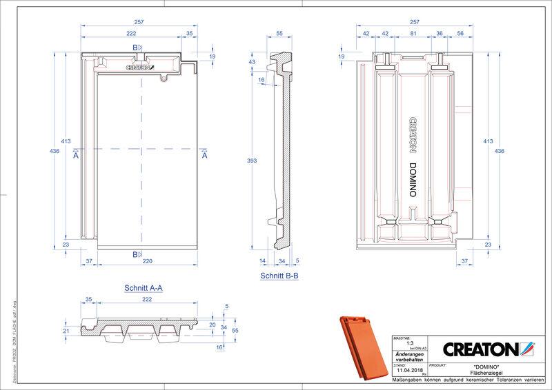 Produkt CAD-Datei DOMINO Fläche FLA