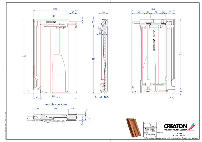 Produkt CAD-Datei CANTUS Lüfterziegel LUEFTZ