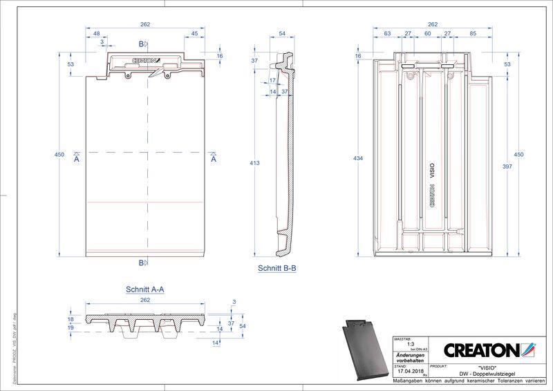 Produkt CAD-Datei VISIO Doppelwulstziegel DWZ