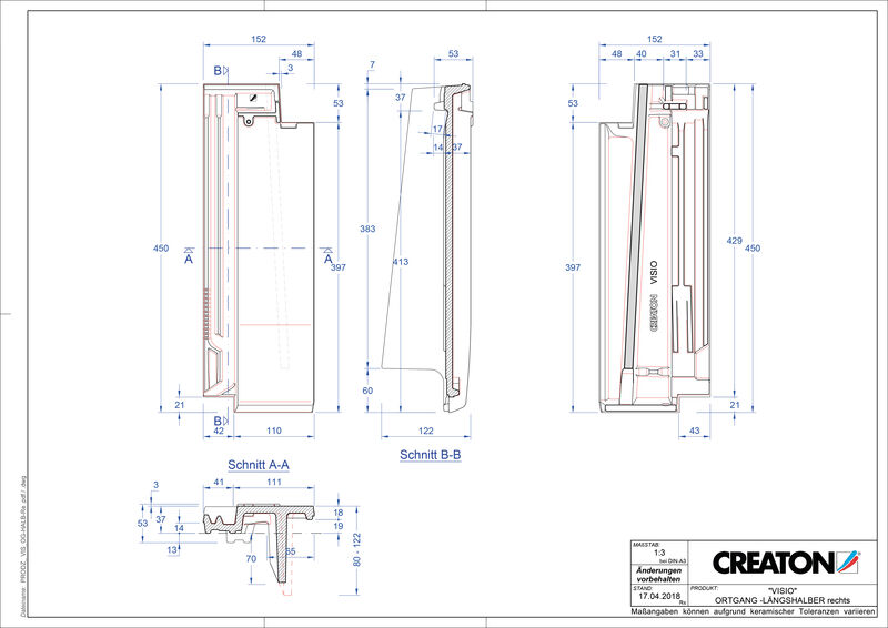 Produkt CAD-Datei VISIO Halber Ortgang rechts LHOGR