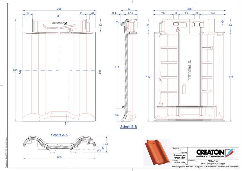 Produkt CAD-Datei TITANIA Doppelwulstziegel DWZ