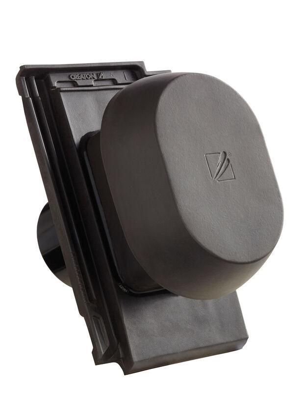 VIS SIGNUM keramischer Wrasenlüfter DN 150/160 mm inkl. Unterdachanschlussadapter