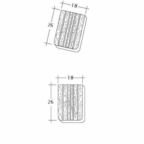 Produkt technische Zeichnung ANTIK ErhO-Korb-Traufziegel