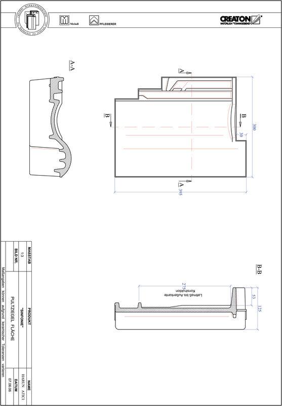 Produkt CAD-Datei SINFONIE Pultziegel Fläche PULTFLA